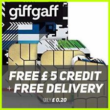Giffgaff Giff Gaff Nano/Micro/Standard 3 in 1 SIM FREE £5 Credit Unlimited Data