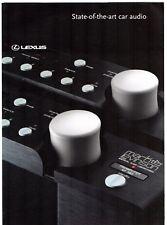 LEXUS MARK LEVINSON Audio Systems 2003 UK Mercato PIEGA BROCHURE GS LS RX SC