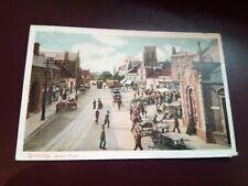 POSTCARD - Grimsby -  Market Place  - 1905