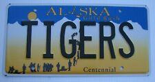 "ALASKA VANITY AUTO LICENSE PLATE "" TIGERS "" DETROIT MICHIGAN MLB BASEBALL TIGER"
