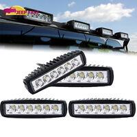 4 X NEW 18W 6 inch LED Work Light Bar Spot Beam Off road 4WD UTE Driving Light