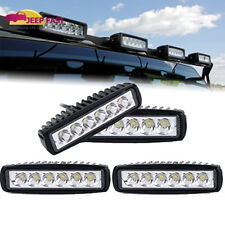 4 X NEW 18W 6 inch LED Work Light Bar Spot Beam Off road 4WD UTE Driving Light