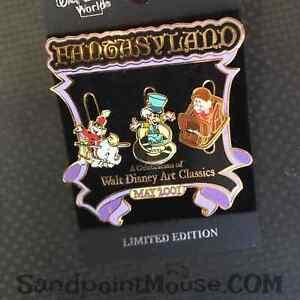 Rare Disney LE WDAC Fantasyland Grumpy Mad Hatter Dumbo Timothy Pin (NY:5110)