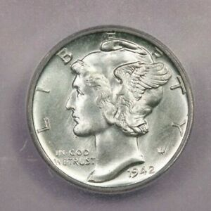 1942-D 1942 Mercury Dime 10c ICG MS67 FB