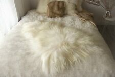 Genuine Natural Icelandic Sheepskin Rug, Pelt, long fur, Super soft