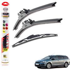"Ford Focus 2004-2011 HEYNER SUPER FLAT PREMIUM wiper blades 26""17""10""C set of 3"