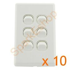Light Switch (6 gang) Per box of 10 - $1.80 per switch. Aust. Approved