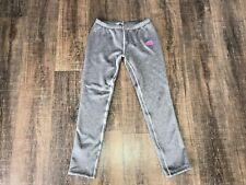 The North Face Sweatpants Girl's Size Large Gray with Pink Logo