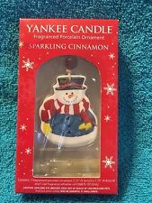 YANKEE CANDLE FRAGRANCED PORCELAIN ORNAMENT SPARKLING CINNAMON