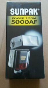 SUNPAK POWER ZOOM 5000AF Flash Minolta AF Camera New in Box Made in JAPAN