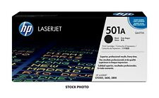 HP 501A (Q6470A) Black Original Toner Cartridge - NEW