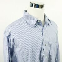 Brooks Brothers Mens 17 1/2 33 Traditional Non Iron Dress Shirt Blue Striped