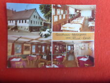 GRAB GERMANY GASTHAUS METZGEREI RESTAURANT PROMO  RETRO  POSTCARD  UNUSED