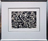 Frans Masereel: Jeunesse originale Tusche-Zeichnung 1948 Jugend gegen Krieg
