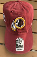 NEW WASHINGTON REDSKINS CAP HAT '47 BRAND CLEAN UP Pro Football Hall of Fame HOF