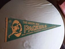 Rare 1965 Green Bay Packers Pennant Full Size 28 inches