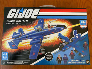 GI Joe Cobra Rattler Construction Set With 224 Pieces Brand New In Hand Sealed