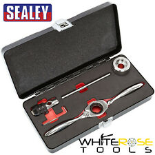 Sealey Tap & Die Holder Set Bi-Directional Ratchet Thread Repair M3-M12 5pc
