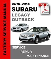 Subaru Outback 2010 2011 2012 Factory Service Repair Workshop Manual Wiring