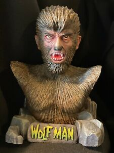 """1/4 Scale Resin """"The Wolfman"""" Bust Built Up Aurora Tribute Fan Art"""