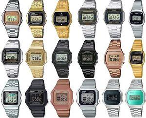 Casio Retro Digital Chronograph Bracelet Watch for Ladies Gents Girls & Boys