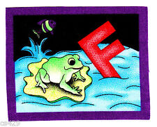 "3.5"" Alphabet Abc'S Letter F Frog Fish Name Monogram Fabric Applique Iron On"