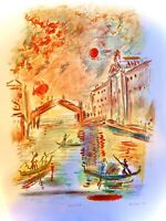 Ensrud Original Hand Signed Limited Edition Lithograph Venice Rialto