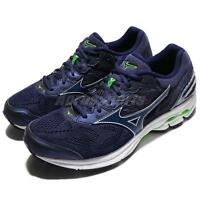 Mizuno Wave Rider 21 2E Wide Blue White Men Running Shoes Sneakers J1GC18-0419
