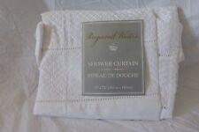 """Raymond Waites White Fabric Shower Curtain 72"""" x 72"""" NIP"""