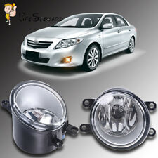 1 Pair Clear Fog Light Driving Lamp For TOYOTA CAMRY COROLLA TACOMA MATRIX YARIS