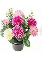 Artificial Chrysanthemum Pale Pink Grave Crem Pot Memorial Flower Arrangement