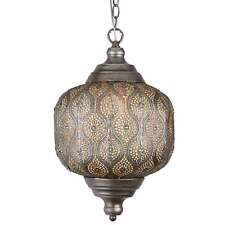 SEARCHLIGHT MOROCCAN CHARISMATIC CEILING PENDANT LIGHT IN ANTIQUE SILVER 1302SI