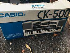 CASIO CK-500 Boombox Keyboard AM/FM Radio Twin Cassette RARE 80's ( Boxed)