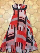 Fervente brand size Euro 38 pleated vibrant print maxi dress