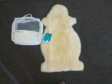 Bowron Authentic Shorn Baby Fleece Sheepskin Ivory Natural