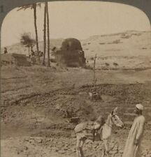 Egypt Cliff-tombs of the Lords of Assiut, King Makers 4000 Years Ago. Stereoview