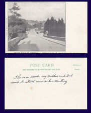 UK CORNWALL ST AUSTELL TRURO ROAD UNDIVIDED BACK POSTCARD CIRCA 1905, MESSAGE