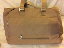 NWT $158 BAGGALLINI Errand Laptop Bag Travel Lightweight Water Resistant Sand