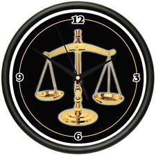 SCALES OF JUSTICE Wall Clock attorney law office gift