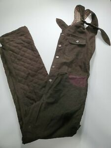 PROSPECTIVE FLOW Japanese Overalls Brown Plaid Lined Mens Size M *SEND OFFERS*