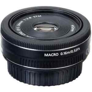 AS NEW Canon Pancake EF-S 24mm f2.8 STM Wide Angle DSLR Lens