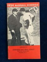 VINTAGE - 1954 Baseball Schedule & Information Booklet - Ruth/Campanella/Rosen