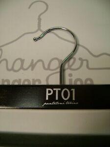 "PT01 PANTALONI TORINA 14"" PANT BROWN WOOD HANGERS SET 10"
