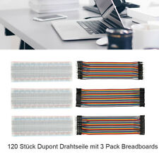 6pcs Dupont Cable Jumper Wire 20cm F-M F-F M-M + MB-102 830 Point Breadboard Kit
