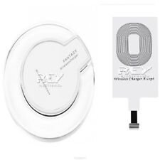 Base Carga Inalámbrica Movil Blanco + Adaptador Válido para iPhone d355/i425