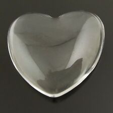 49pcs Clear Transparent Glass Heart Dome Cabochons Cameo Jewelry Finding 37931