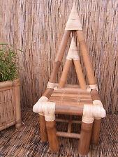 Bambusstuhl Bambusmöbel Designerstuhl Stuhl Luxusstuhl Bambus NEU Pyrastuhl