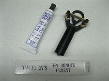 NEW TUBE of TWEETEN 10 Minute Glue and 1 NEW Billiard Plastic Pool Cue Tip Clamp