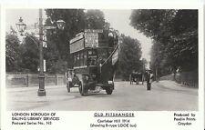 London Postcard - Old Pitshanger - Ealing Station Bus at Castlebar Hill   V1622