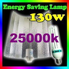 Growlush Hydroponics 130W 25000k CFL grow light kit Aluminum Batwing Reflector